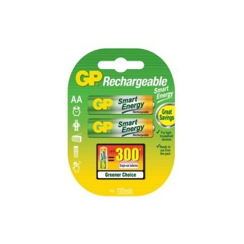 Acumulator R6 (AA) NiMH 1000mAh Smart Energy 2buc/blister GP