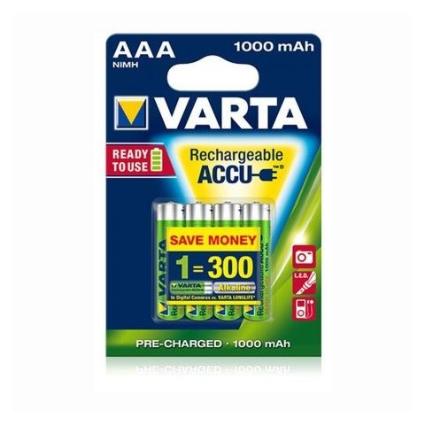 Acumulatori Varta AAA 1000mAh, blister de 4 buc Ready to use