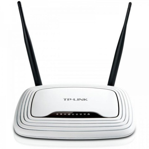 Router Wireless TP-Link TL-WR841N RO, 1WAN 10/100, 4xLAN 10/100, 2 antene fixe 5dBi, N300, Atheros