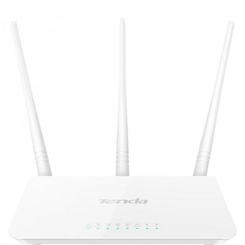 Router Wireless TENDA F3, TENSIA45448, 3 antene externe fixe (3*5dBi)