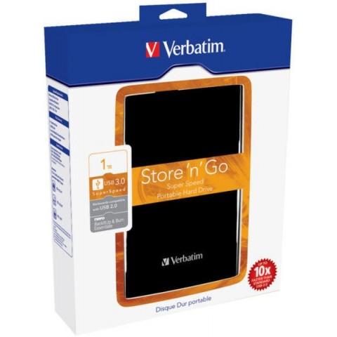 Verbatim HDD 2.5inch 1 TB USB3.0 BLACK