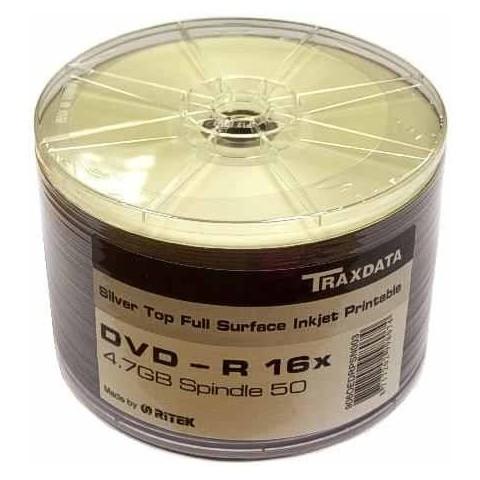 DVD-R Traxdata 16X printabil silver shrink 50