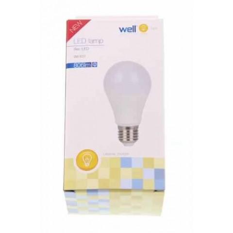 Bec cu led A60 E27 9W 230V lumina calda Well