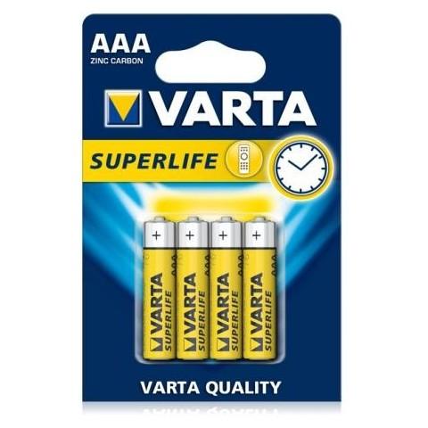 Baterii AAA, zinc-carbon, 4 bucati, VARTA Super Life