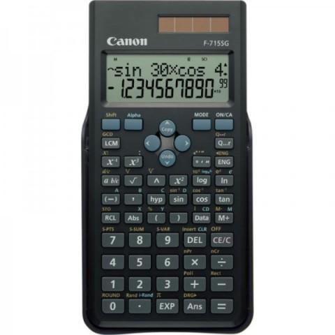 Calculator birou Canon F715SGBK, 16 digiti, display LCD 2 linii, alimentare solara si baterie, 250 functii