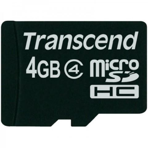 Card memorie Transcend Micro SDHC 4GB, Class 4