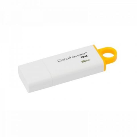 USB Flash Drive Kingston 8 GB DataTraveler DTIG4, USB 3.0, white-yellow