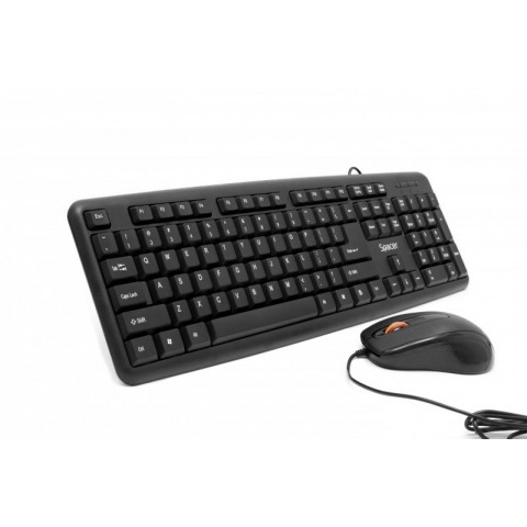WIRED KIT SPACER USB QWERTY keyboard + optical mouse combo SPDS-S6201