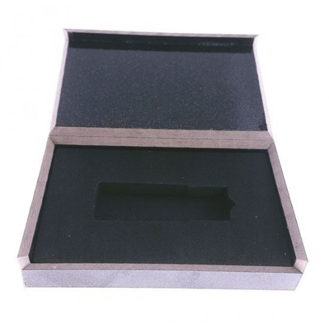 Carcasa usb lemn -negru lucios 100x63x20mm - BOX-123