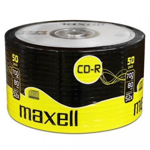 CD-R Maxell 700Mb , 80 min , 52X , set 50 buc