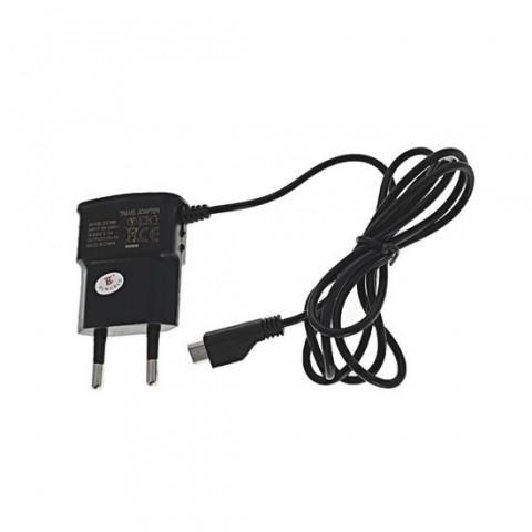 Incarcator CC688 de retea pentru telefon , cu cablu microUSB,1A,negru