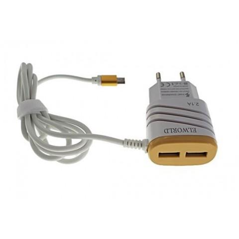 Incarcator Elworld retea pentru telefon cu cablu micro USB 2.1A