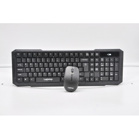 Kit wireless LogiStep QWERTY keyboard + optical mouse combo, 2.4GHz, Plug&Play