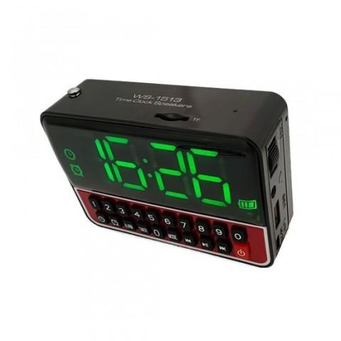 Boxa FM 3W cu ceas, alarma, player MP3 de pe microSD si USB