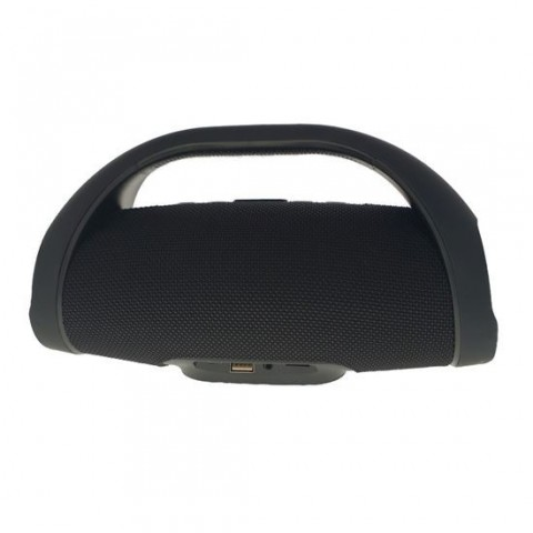 Boxe bluetooth Booms Mini, neagra, rezistent la apa IPX7, lungime 24 cm, diametru 8 cm, 653gr