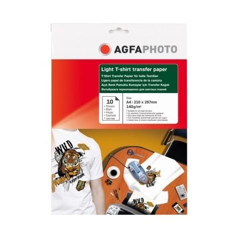 Hartie pentru transfer termic pe tricouri albe AGFA format A4 140g/mp - pachet 10 coli
