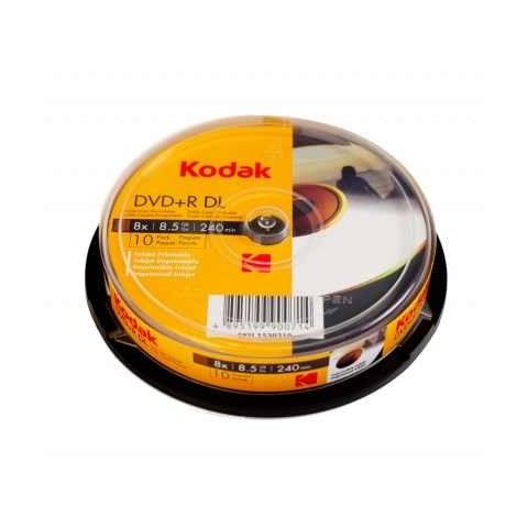DVD+R 8.5GB DL Kodak dual layer inkjet printabil GLOSSY full surface viteza 8x
