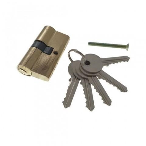 Cilindru siguranta,butuc pentru usa,5 chei,60mm,alama natur,65382