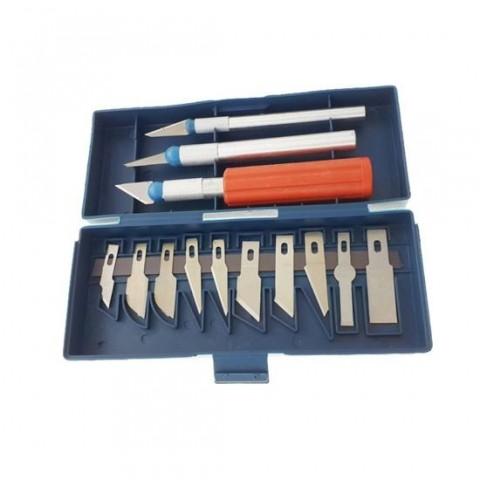 Set de 13 cuțite de precizie 13PPK,Hobby Art Craft,in cutie