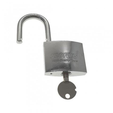 Lacat inox FS-11438, cu cheie stea,38mm,argintiu