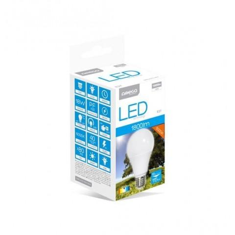 OMEGA LED BULB 6000K E27 18W [43362]