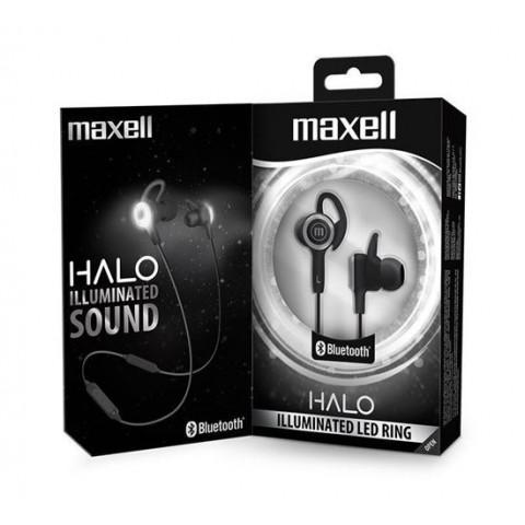 Casti in ear Maxell EB-BT Halo,bluetooth,cu iluminare si control volum,negre