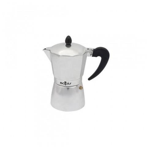 Espressor cafea Sapir,150ml,din aluminiu,pentru 3 portii, argintiu