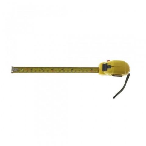 Ruleta metalica , 3m x 15mm,cu buton blocare,clema prindere,galbena