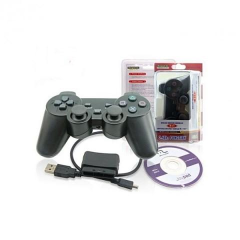 Gamepad wireless dual vibration, 3 in 1, pentru PC, PS2, PS3