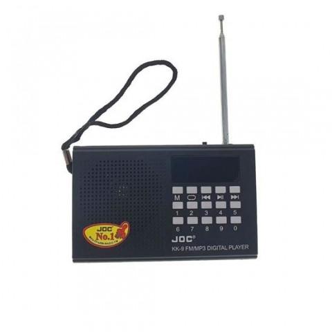 Radio FM digital, KK-09, 3W, player USB, microSD, aux 3.5mm, baterie Li-Ion, 120x75x30mm, negru - KK-9