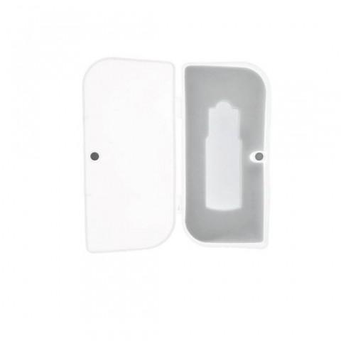 Cutie personalizabila Platinet Pendrive Box 45153, 95x45x20mm, pentru memorie USB, inchidere magnetica, transparenta - PBOX01