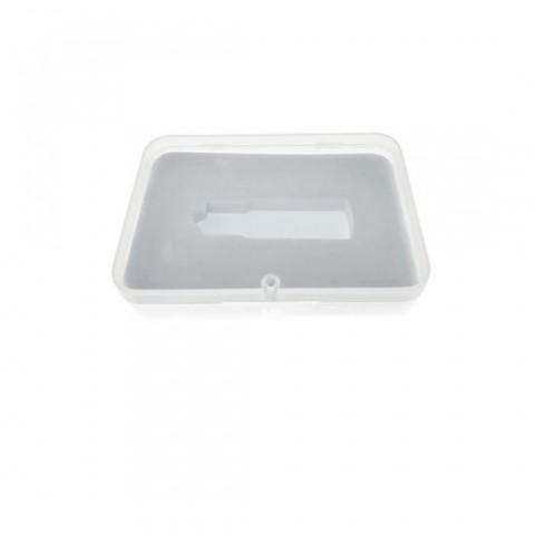 Cutie personalizabila Platinet Pendrive Box 45154, 100x72x20mm, pentru memorie USB, inchidere magnetica, transparenta - PBOX02
