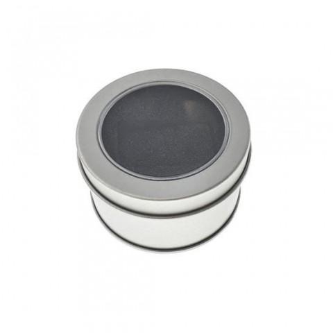 Cutie personalizabila Platinet Pendrive Box 45171, 65x40mm, pentru memorie USB, metalica, capac cu fereastra, argintie - PBOX18