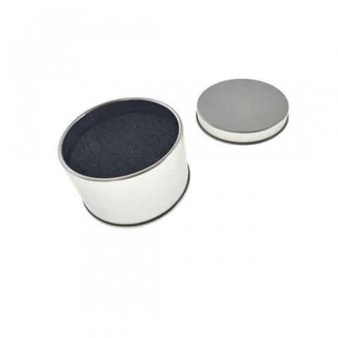 Cutie personalizabila Platinet Pendrive Box 45172, 65x40mm, pentru memorie USB, metalica, cu capac, argintie - PBOX18WN