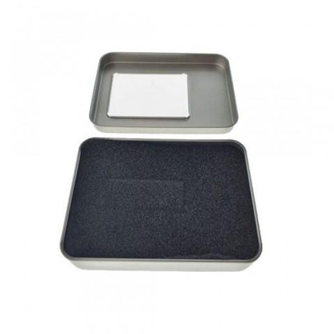 Cutie personalizabila Platinet Pendrive Box 45170, 115x85x22mm, pentru memorie USB, metalica, capac cu fereastra, argintie - PBOX17
