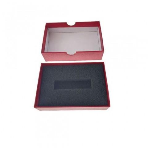 Cutie personalizabila Platinet Pendrive Box 45157, 120x84x32mm, pentru memorie USB, cu capac, rosie - PBOX05