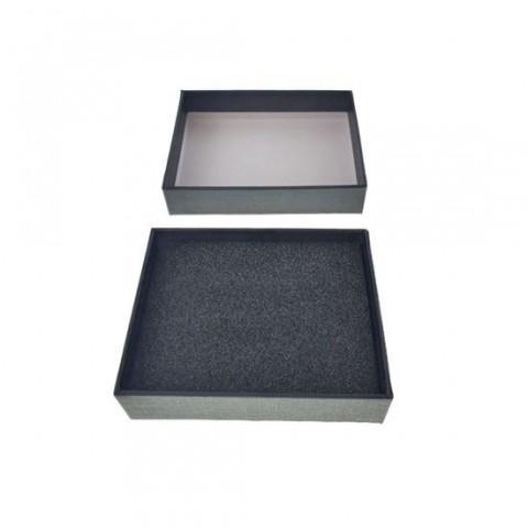 Cutie personalizabila Platinet Pendrive Box 45155, 98x78x25mm, pentru memorie USB, cu capac, neagra - PBOX03