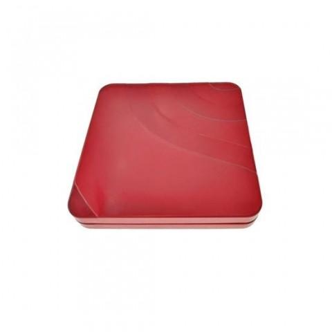 Cutie personalizabila Platinet Pendrive Box 45164, 100x100x16mm, pentru memorie USB, metalica, cu capac, rosie - PBOX11