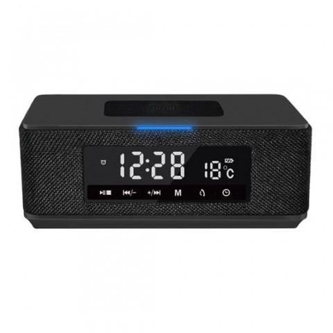 Boxa Platinet 44799, 10W, Bluetooth v4.2, incarcare Qi, Ceas, USB, microSD, FM, baterie 3600 mAh, neagra - PMGQ15B