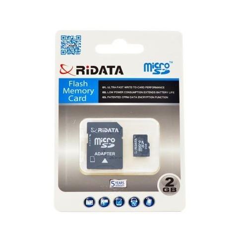 Card microSD cu adaptor, capacitate 2GB