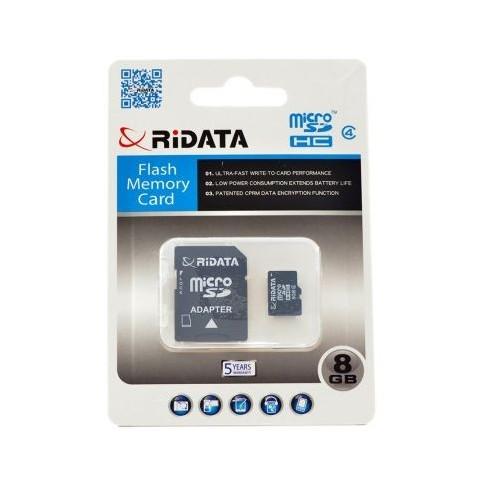 Card microSD cu adaptor, capacitate 8GB