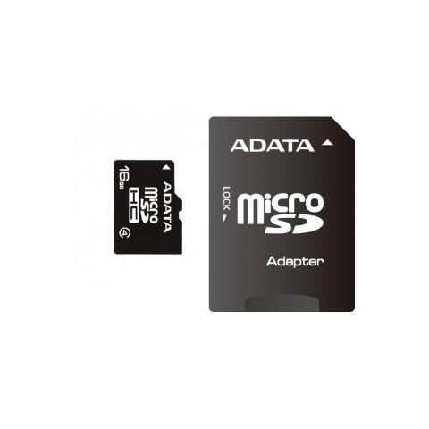 Micro Secure Digital Card ADATA 16Gb ,Clasa 4, cu adaptor SD