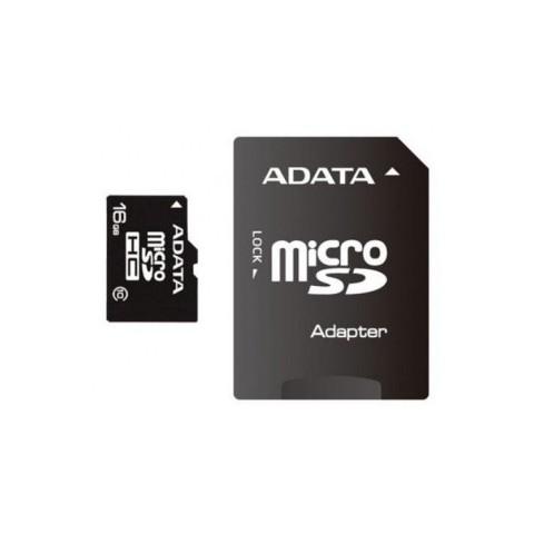Micro Secure Digital Card ADATA 16Gb ,Clasa 10, cu adaptor SD