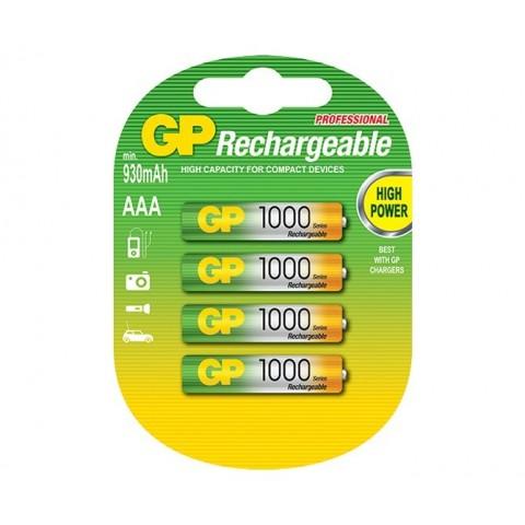 Acumulator R3 (AAA) NiMH 1000mAh LowSelfDischarge 4buc/blister GP
