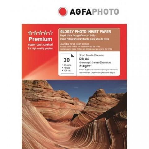 Hartie foto lucioasa AGFA format A4 210g - pachet 20 coli
