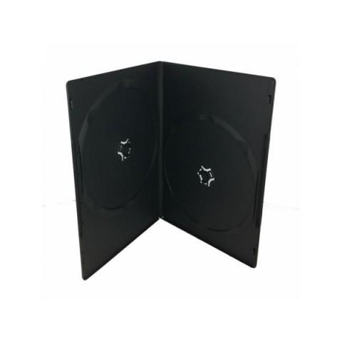Carcasa DVD slim dubla neagra