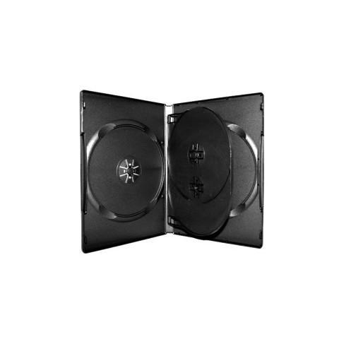 Carcasa DVD neagra pentru 4 discuri
