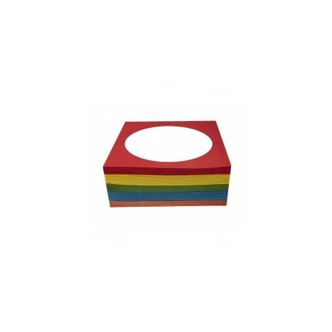 Plic CD/DVD hartie colorata 100g, 5 culori/set