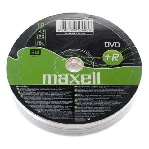 DVD+R Maxell 16X shrink 10
