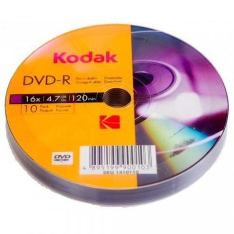 DVD-R Kodak 16X shrink 10